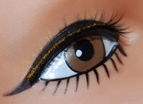Black Lash with Gold Lid Line
