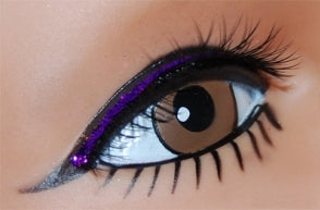 Black Lash with Purple Lid Line