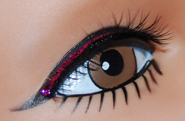Black Lash with Pink Lid Line