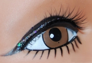 Black Lash with Silver Lid Line