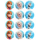 Frozen Cupcake Edible Icing Image 6cm 12pk - Party Savers