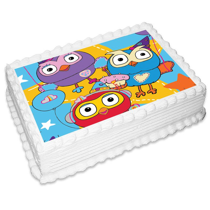 Giggle And Hoot Rectangle Edible Icing Image 25 x 19cm