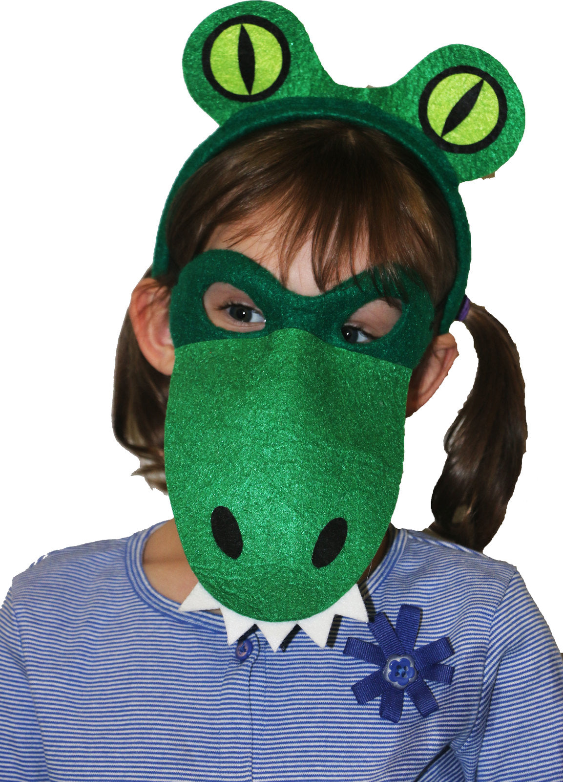 Animal Headband & Mask Set - Alligator