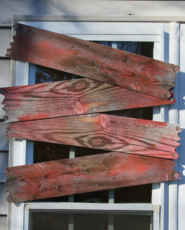 Haunted Window Boards - Blood Stained