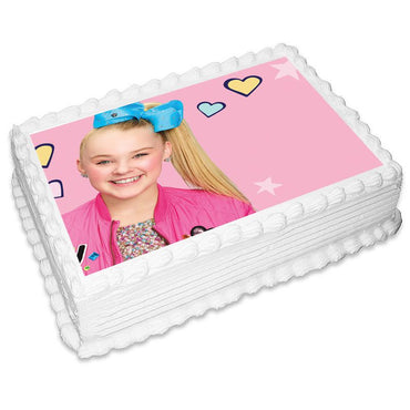 Jojo Siwa Rectangle Edible Icing Image 25 x 19cm