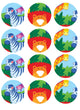 Jungle Animals Cupcake Edible Icing Image 6cm 12pk