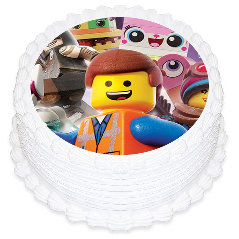 Lego Movies Round Edible Icing Image 19cm
