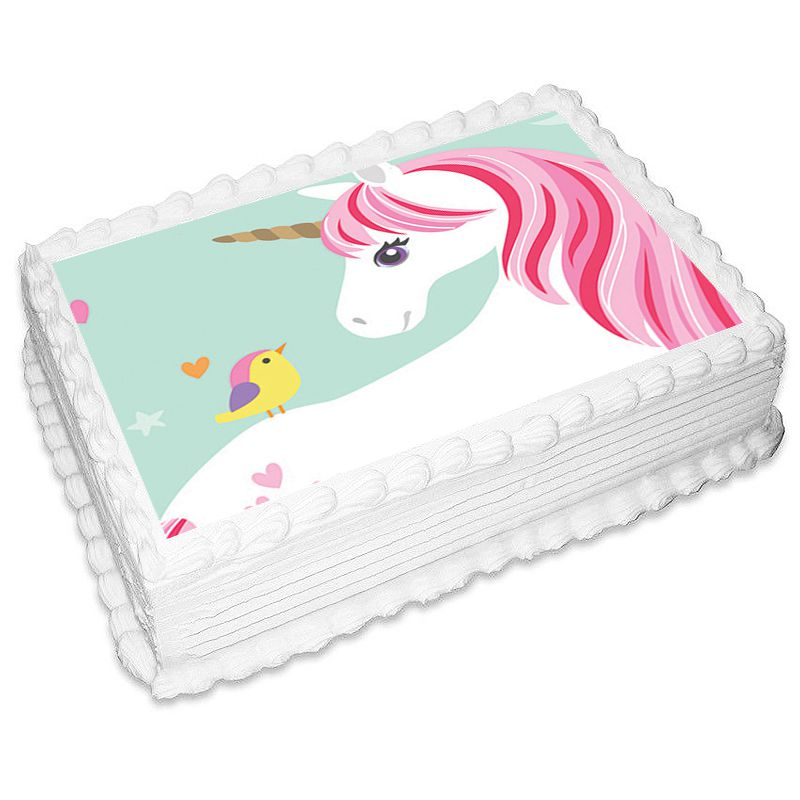 Magical Unicorn Rectangle Edible Icing Image 25 x 19cm