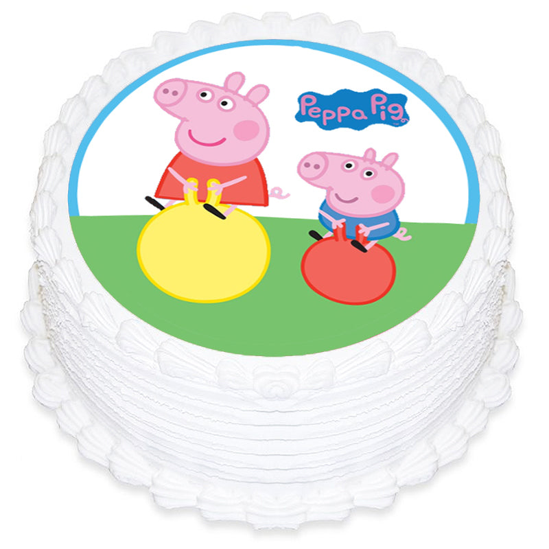 Peppa Pig Round Edible Icing Image 19cm - Party Savers