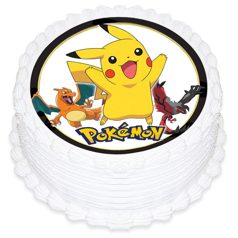 Pokemon Round Edible Icing Image 19cm - Party Savers