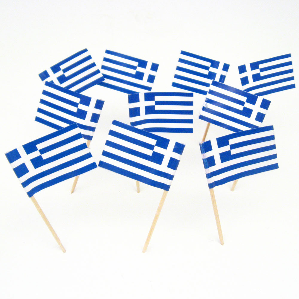 Flagpicks Greece 500pk