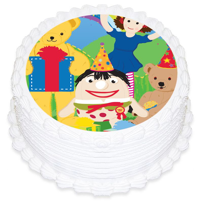 Play School Round Edible Icing Image 19cm
