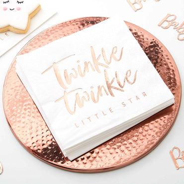 Twinkle Twinkle Napkins Foiled 33cm - Party Savers