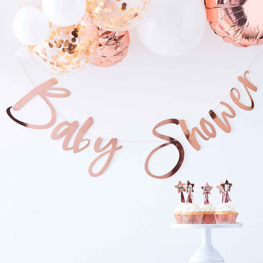 Twinkle Twinkle Backdrop Baby Shower Rose Gold - Party Savers