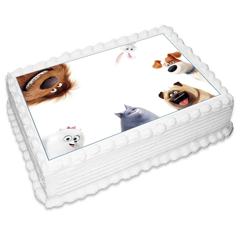 The Secret Life Of Pets Rectangle Edible Icing Image 25 x 19cm