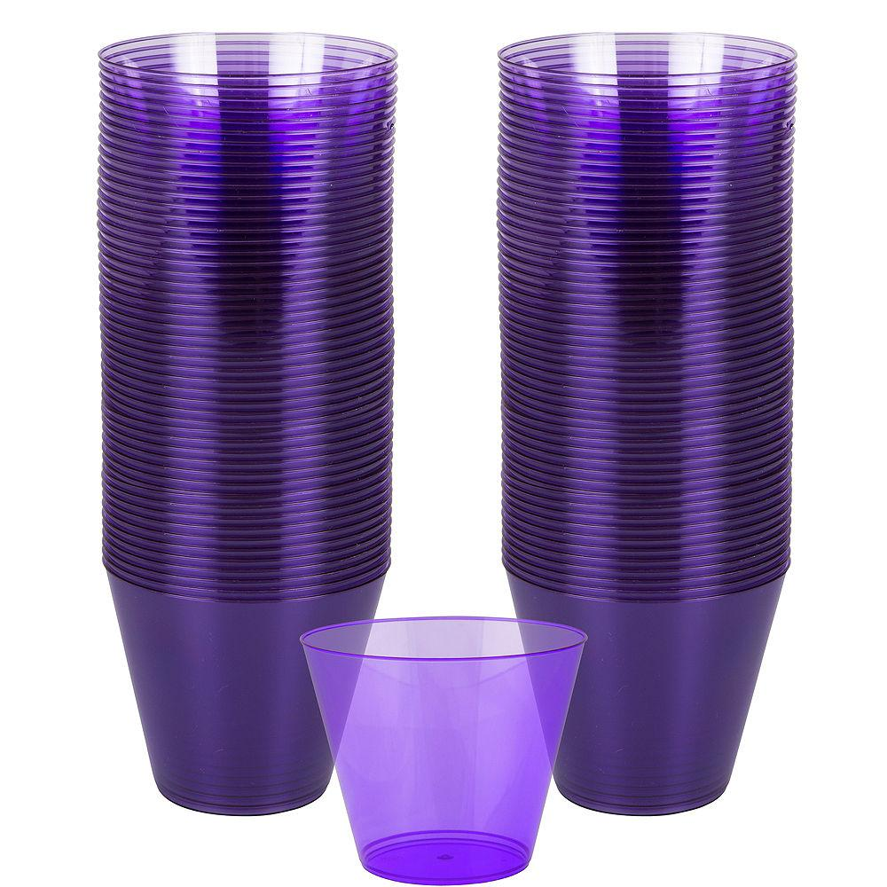 Purple Plastic Tumbler 266ml 72pk