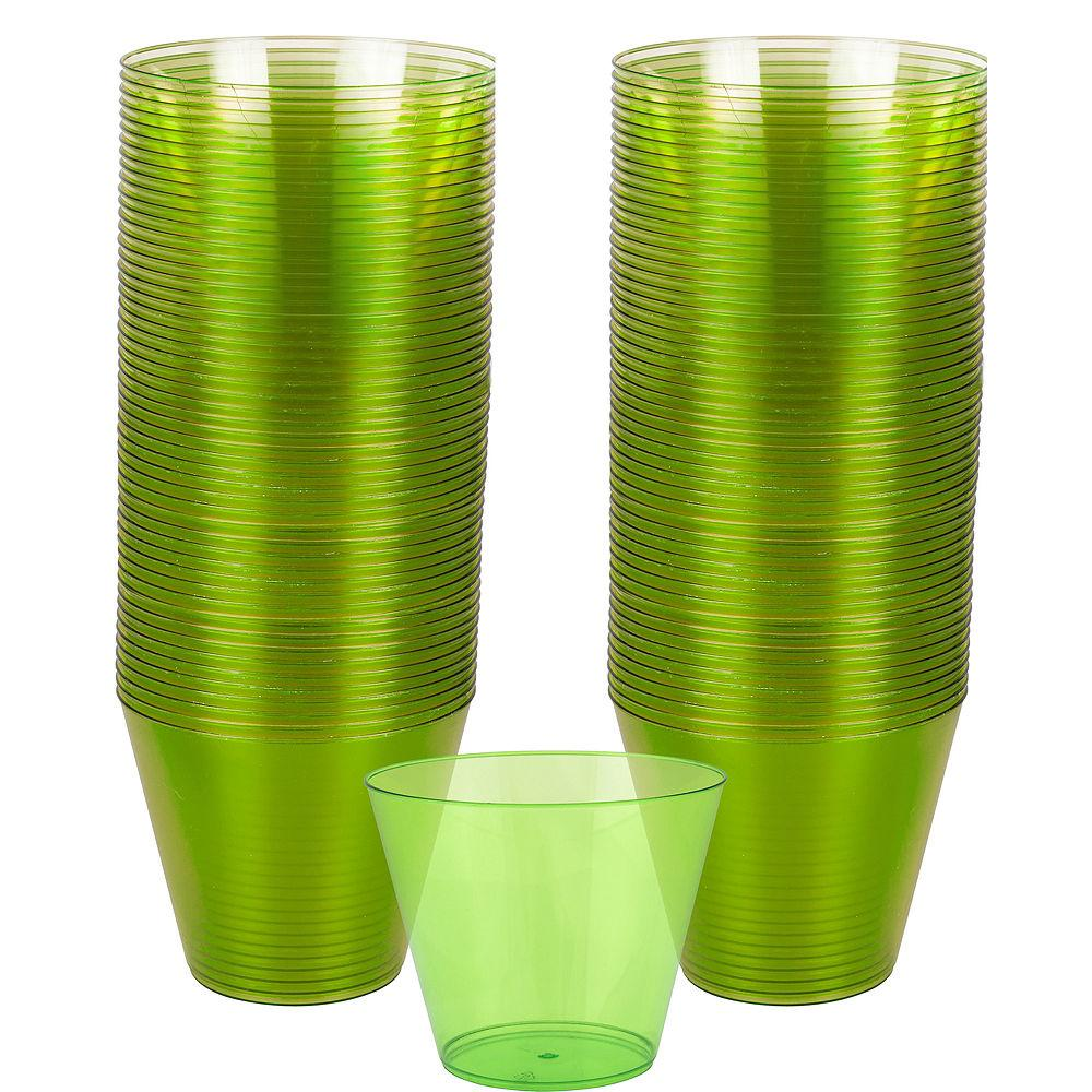 Lime Green Plastic Tumbler 266ml 72pk