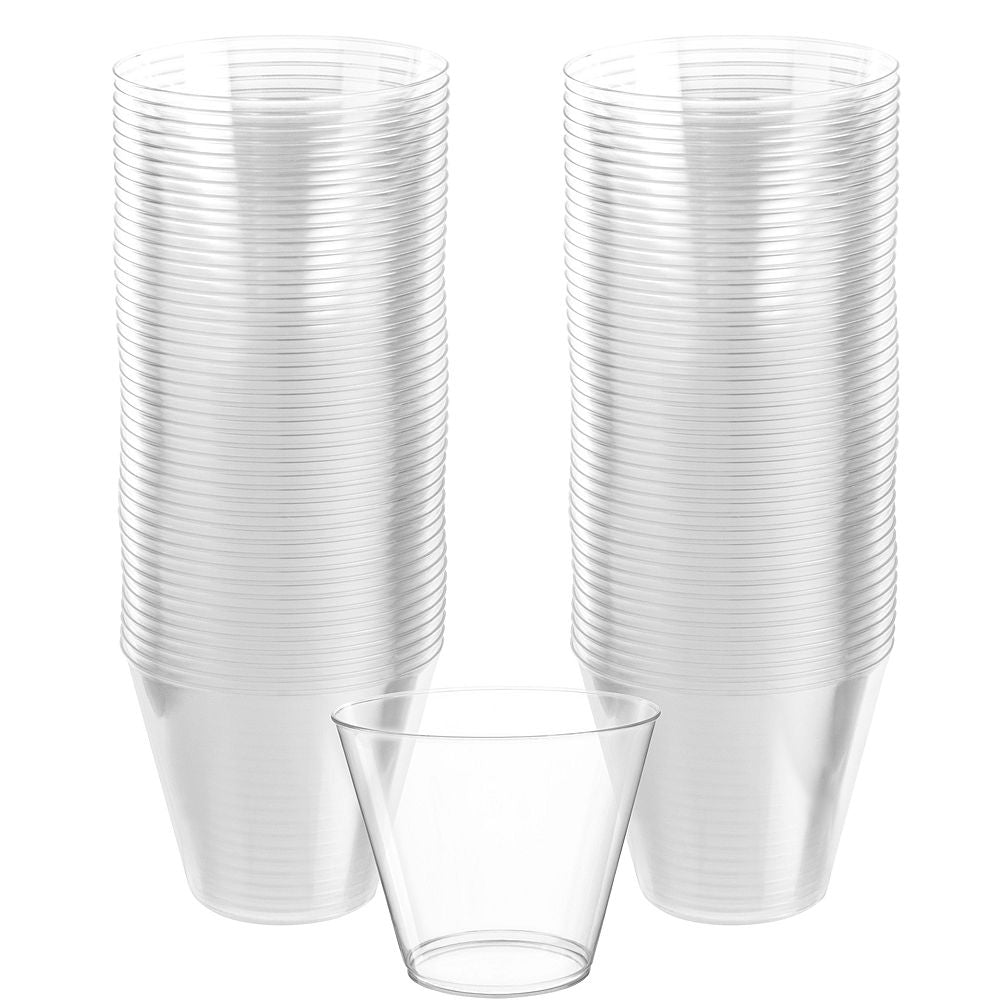 Clear Plastic Tumbler 266ml 72pk