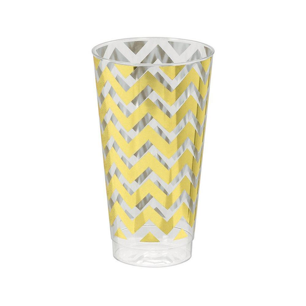Rose Gold Chevron Premium Plastic Tumbler 473ml 16pk