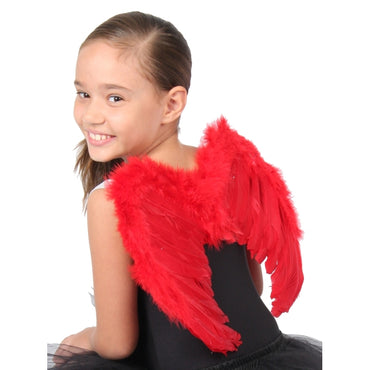 Red Small Feather Angel Wings
