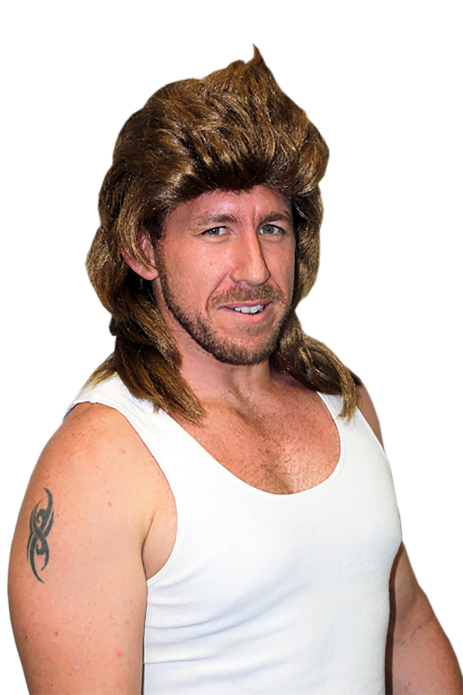 Brown Deluxe Mullet - Bogan Wig