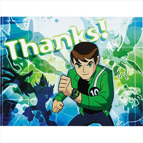 Ben 10 Thank You Cards - Party Savers