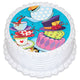 Alice In Wonderland Round Edible Icing Image 19cm
