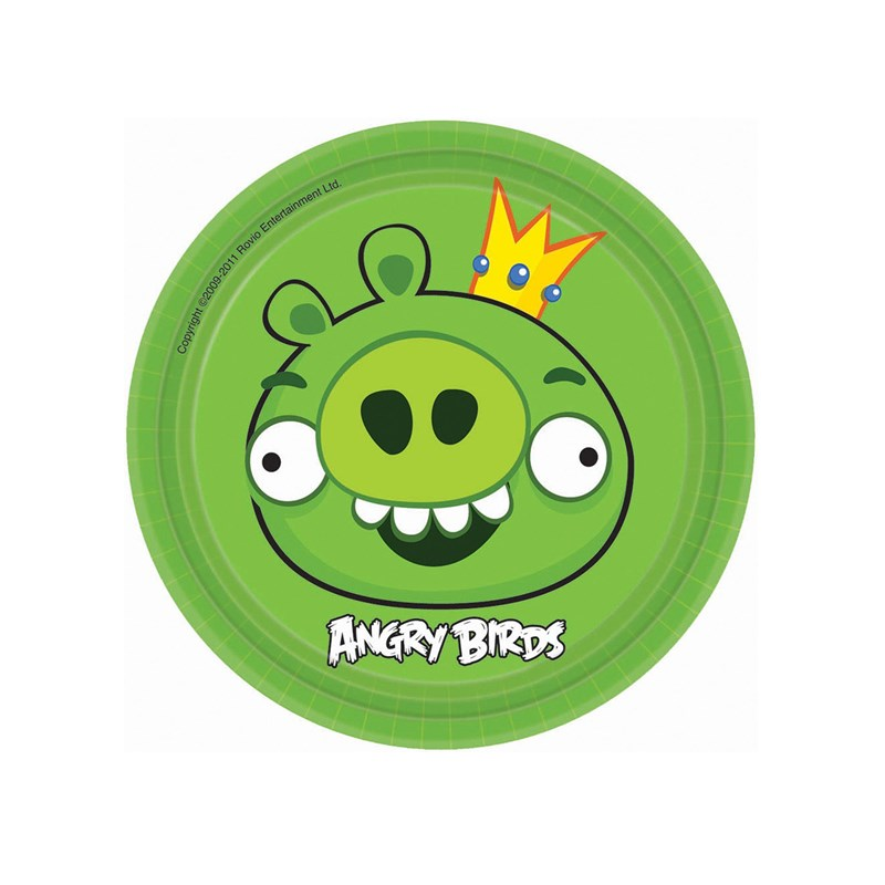 Angry Birds Dessert Plates 17cm 8pk - Party Savers