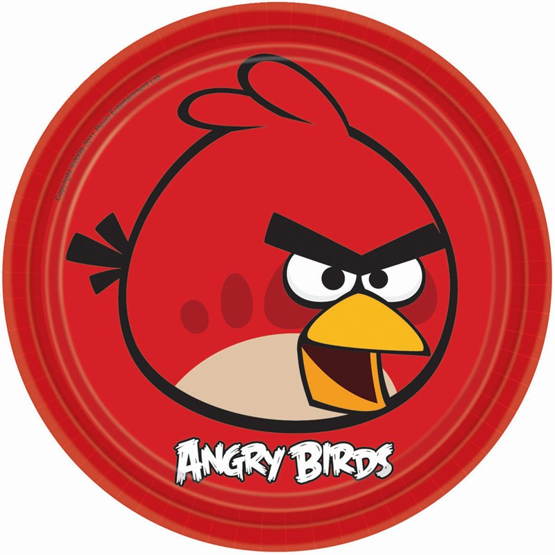 Angry Birds Dinner Plates 23cm 8pk - Party Savers