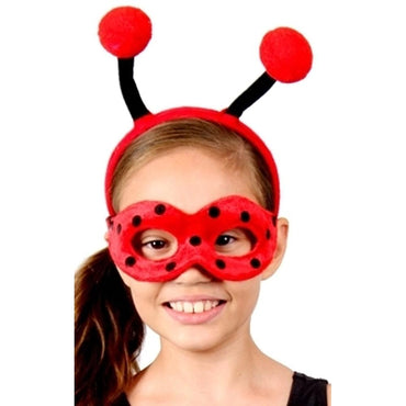 Animal Headband & Mask Kit - Lady Bug