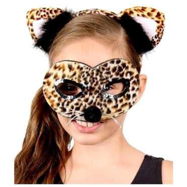 Animal Headband & Mask Kit - Leopard