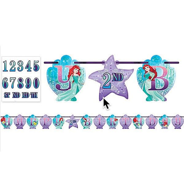 Ariel Dream Big Jumbo Add-An-Age Banner 3.2m x 25cm - Party Savers
