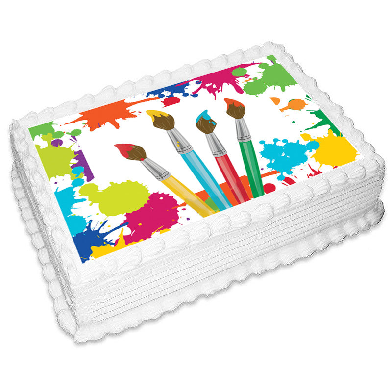 Art Rectangle Edible Icing Image 25cm x 19cm