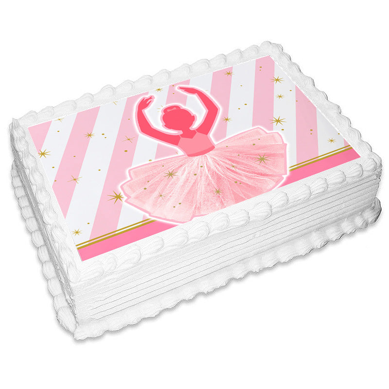 Ballerina Rectangle Edible Icing Image 25cm x 19cm - Party Savers