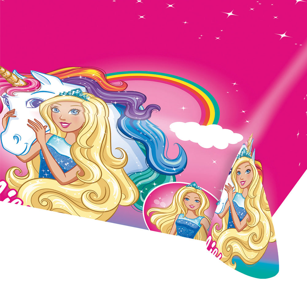 Barbie Dreamtopia Tablecover Plastic 1.3m x 2.4m - Party Savers