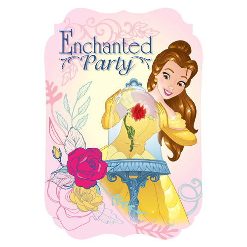 Beauty & The Beast Invitations 8pk