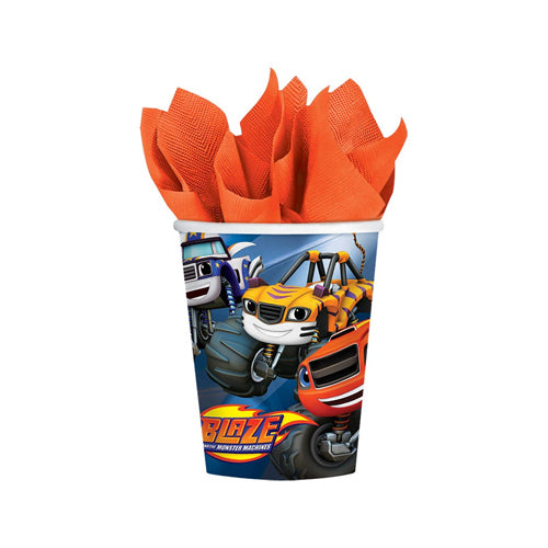 Blaze & The Monster Machines Paper Cups 266ml 8pk - Party Savers