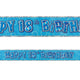 Blue Glitz 18th Birthday Foil Banner 3.6m