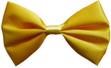 Yellow Satin Bow Tie