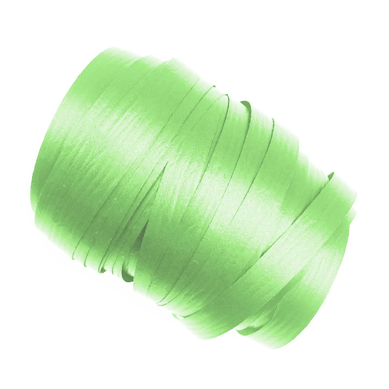 Green Precut Ribbon With Clips 1.75m 25pk - Party Savers