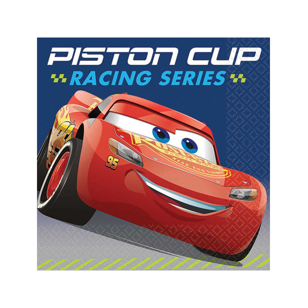 Cars 3 Beverage Napkins 16pk - Party Savers