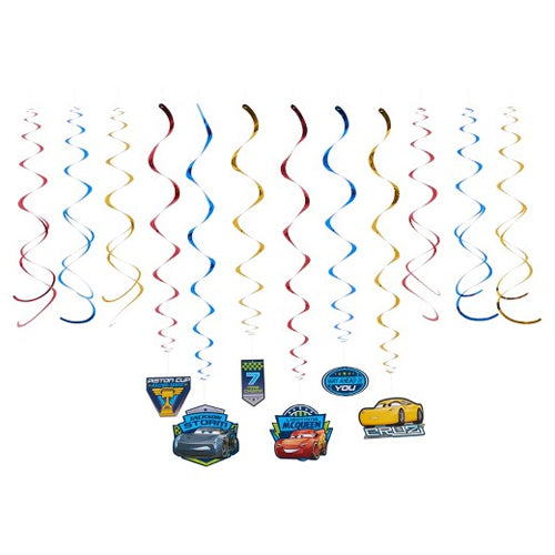 Cars 3 Hanging Swirls Value Pack 12pk