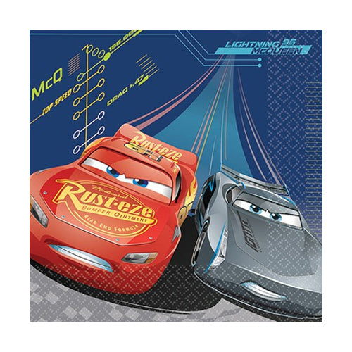 Cars 3 Luncheon Napkins 33cm 8pk