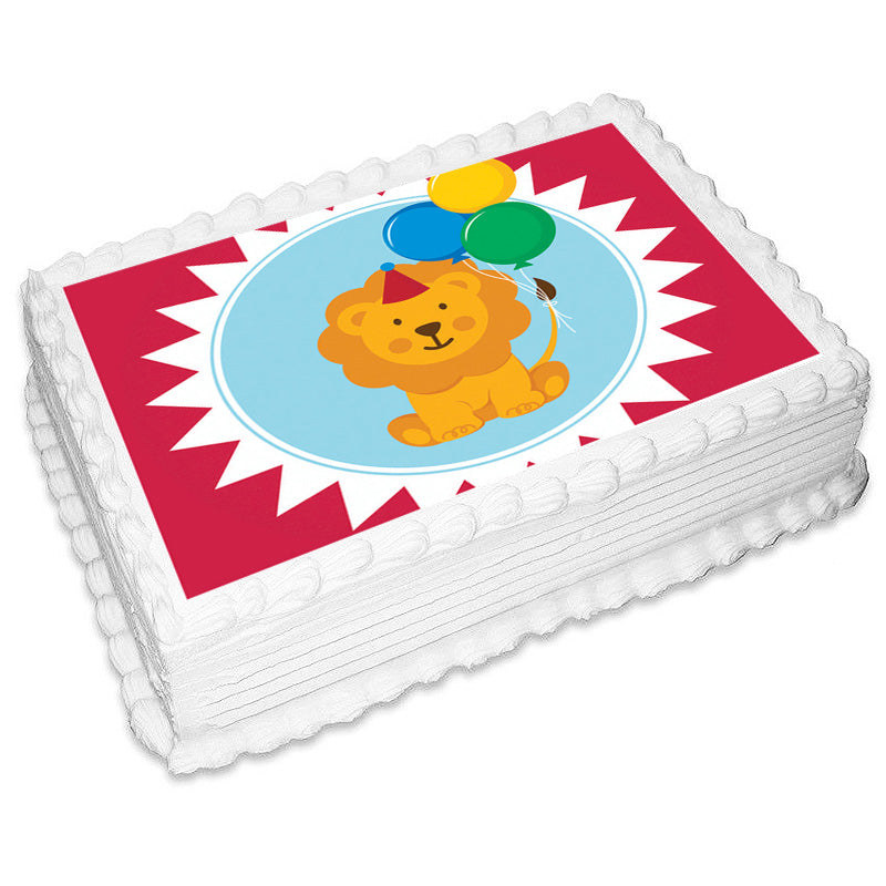 Circus Rectangle Edible Icing Image 25cm x 19cm