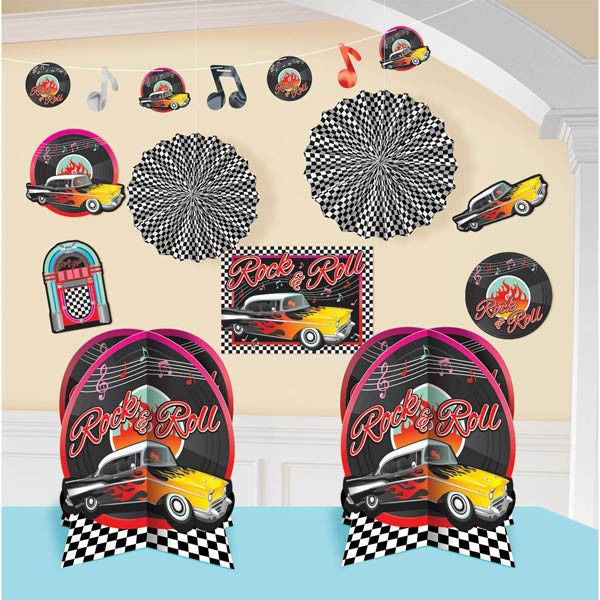 Classic 50s Room Decorating Kit 10pk - Party Savers