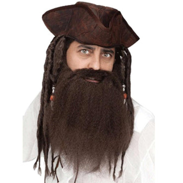 Crimped Brown Pirate Beard