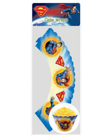 Superman Cupcake Wraps 12pk