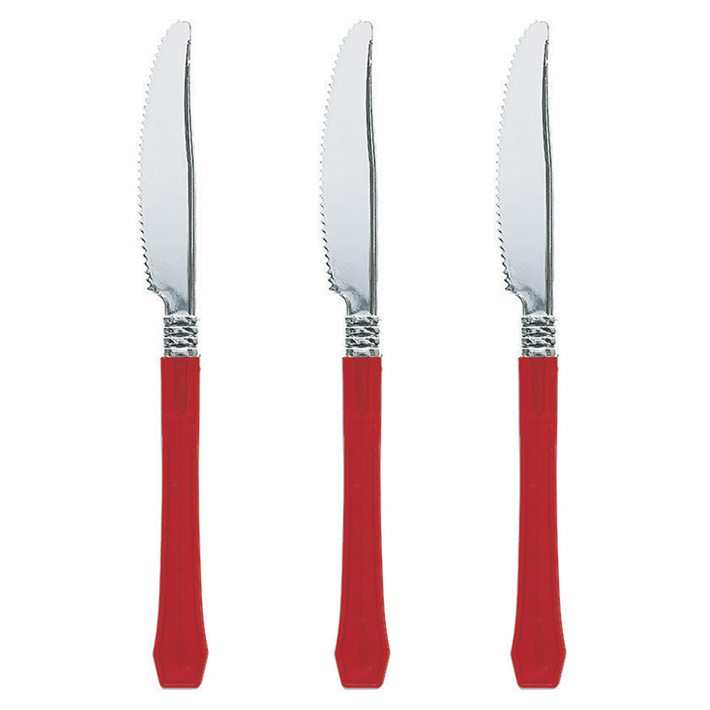 Red Premium Plastic Knife 20pk - Party Savers