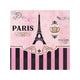 Day In Paris Beverage Napkins 25cm 16pk