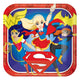 DC Super Hero Girls Square Plate 23cm 8pk - Party Savers